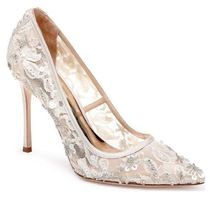 Badgley Mischka Pin Heels Party Style Pointed Toe Pumps & Mules