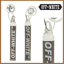 Off-White Blended Fabrics Leather Keychains & Holders