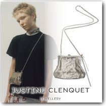 Justine Clenquet Chain Plain Party Style With Jewels Party Bags