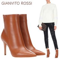 Gianvito Rossi Plain Leather Elegant Style Ankle & Booties Boots