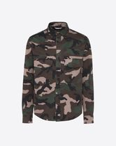 VALENTINO Camouflage Long Sleeves Cotton Shirts