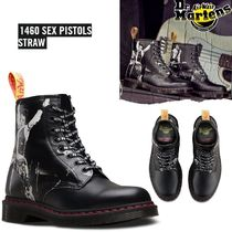 Dr Martens Round Toe Rubber Sole Lace-up Unisex Collaboration Leather