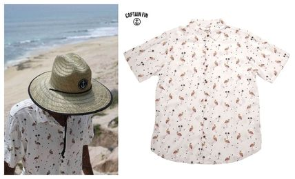 Other Animal Patterns Cotton Short Sleeves Shirts