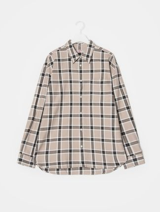 Tartan Other Check Patterns Long Sleeves Cotton Shirts