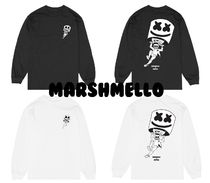Crew Neck Pullovers Unisex Collaboration Long Sleeves Cotton
