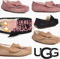 UGG Australia ANSLEY Round Toe Casual Style Plain Loafer Pumps & Mules