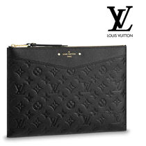 Louis Vuitton MONOGRAM Monogram Unisex Bag in Bag Leather Clutches