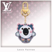 Louis Vuitton Unisex Fur With Jewels Keychains & Bag Charms