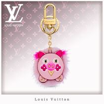Louis Vuitton Fur Blended Fabrics With Jewels Keychains & Bag Charms
