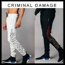 CRIMINAL DAMAGE Street Style Cotton Joggers & Sweatpants