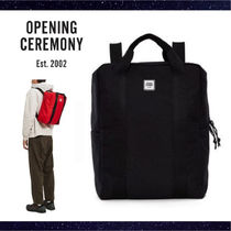 OPENING CEREMONY Unisex Street Style A4 Plain Backpacks