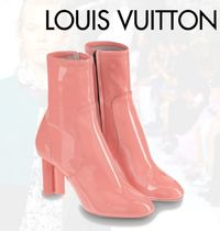 Louis Vuitton Leather Block Heels Ankle & Booties Boots