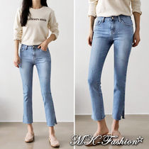 Plain Cotton Medium Skinny Jeans