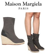 Maison Martin Margiela Casual Style Blended Fabrics Plain Ankle & Booties Boots