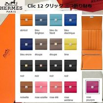 HERMES Leather Handmade Folding Wallets