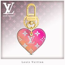 Louis Vuitton MONOGRAM Heart Canvas Studded Keychains & Bag Charms
