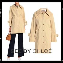See by Chloe Stand Collar Coats Plain Medium Elegant Style Coats