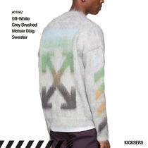 Off-White Crew Neck Unisex Wool Street Style Long Sleeves