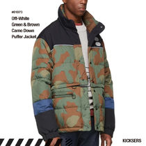 Off-White Camouflage Unisex Street Style Down Jackets