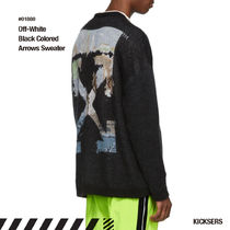 Off-White Crew Neck Unisex Street Style Long Sleeves Knits & Sweaters
