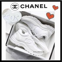 CHANEL SPORTS Casual Style Unisex Plain Low-Top Sneakers