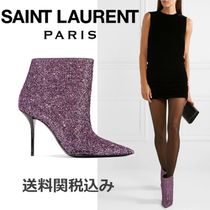 Saint Laurent Blended Fabrics Leather Pin Heels Elegant Style