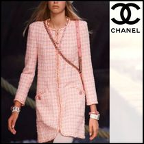 CHANEL Other Check Patterns Tweed Blended Fabrics Medium