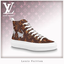 Louis Vuitton MONOGRAM Casual Style Unisex Street Style Leather Low-Top Sneakers
