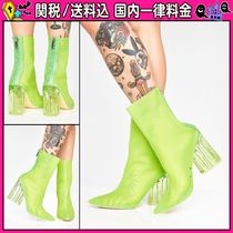 DOLLS KILL Casual Style Plain Block Heels Ankle & Booties Boots