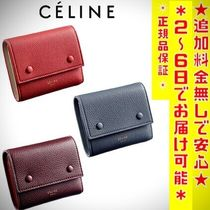 CELINE Unisex Leather Folding Wallets