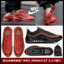 Nike AIR MAX 97 Leopard Patterns Street Style Low-Top Sneakers
