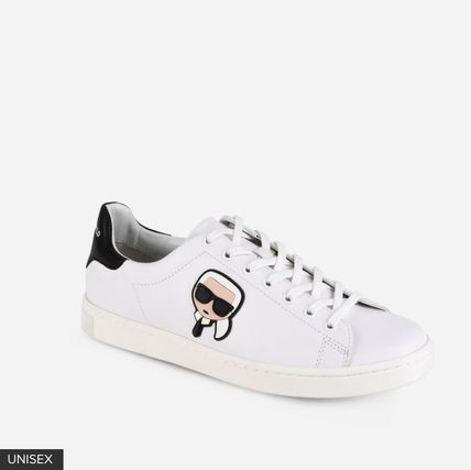 379be3742e9269 ... Karl Lagerfeld Low-Top Round Toe Casual Style Plain Leather Low-Top  Sneakers ...