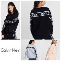 Calvin Klein CK CALVIN KLEIN Unisex Long Sleeves Logos on the Sleeves