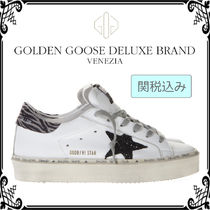 Golden Goose Star Rubber Sole Lace-up Casual Style Street Style Plain