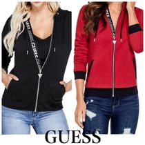 Guess Short Street Style Long Sleeves Plain Cotton Cropped
