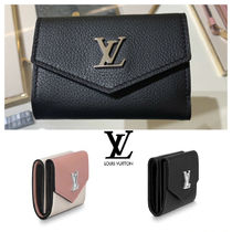 Louis Vuitton LOCKME Plain Leather Folding Wallets