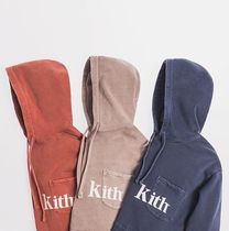 KITH NYC Pullovers Street Style Long Sleeves Plain Cotton Hoodies