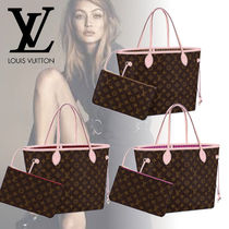 Louis Vuitton NEVERFULL Monogram Bag in Bag A4 Bi-color Office Style Totes