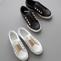 Round Toe Casual Style Faux Fur Plain Slip-On Shoes