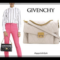 GIVENCHY GV3 3WAY Chain Plain Leather Elegant Style Shoulder Bags
