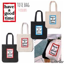 have a good time Casual Style Canvas Street Style A4 Totes