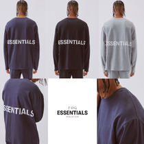 FEAR OF GOD ESSENTIALS Crew Neck Pullovers Unisex Street Style Collaboration
