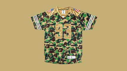 Camouflage Unisex Street Style Collaboration Short Sleeves