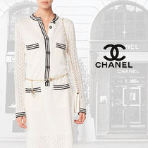 CHANEL Calfskin Blended Fabrics 2WAY Chain Plain Home Party Ideas