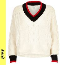 River Island Cable Knit Casual Style Long Sleeves Knitwear