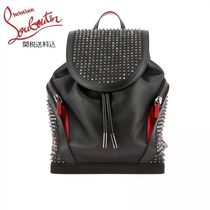 Christian Louboutin Calfskin Studded Plain Backpacks