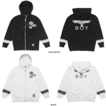 BOY LONDON Casual Style Unisex Studded Plain Medium Varsity Jackets