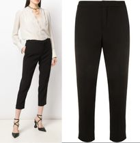 Chloe Plain Medium Elegant Style Cropped & Capris Pants