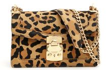 MiuMiu Leopard Patterns Leather Shoulder Bags