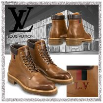 Louis Vuitton Plain Toe Mountain Boots Leather Outdoor Boots